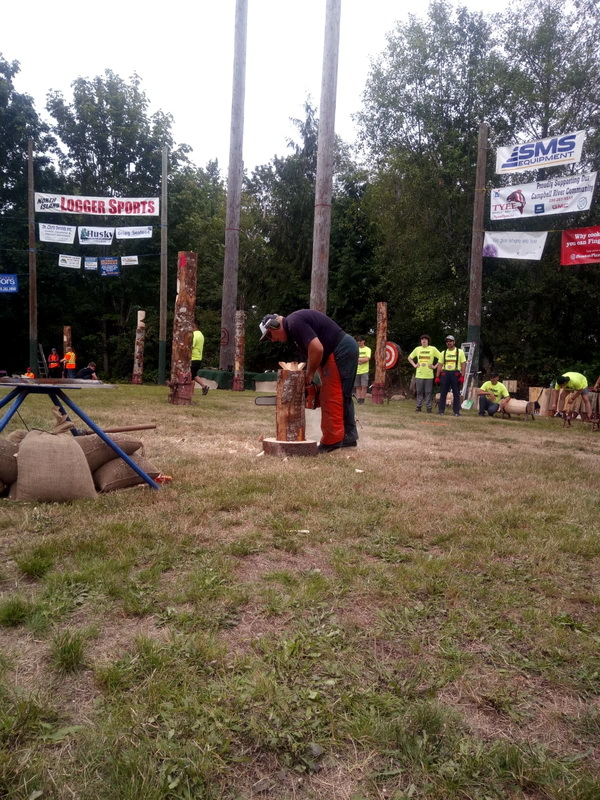 Werner Brohammer bei den Logger's Days in Campbell River, Canada